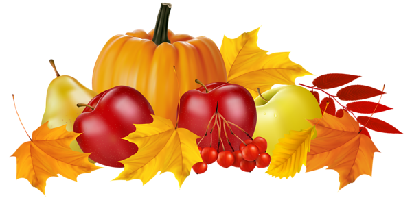 Autumn_Pumpkin_and_Fruits_PNG_Clipart_Image